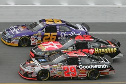Jamie McMurray, Casey Mears and Kevin Harvick