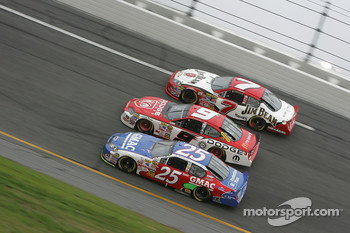 Brian Vickers, Kasey Kahne and Robby Gordon