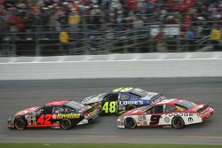 Casey Mears, Jimmie Johnson and Kasey Kahne