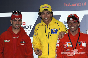 Press conference: Marco Melandri, Valentino Rossi and Loris Capirossi