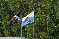 Flags at Imola