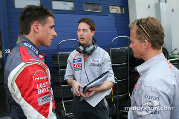 Adrian Sutil with Johnny Herbert