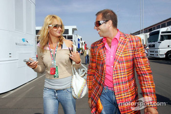 Franziska van Almsick and Kai Ebel in the paddock