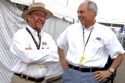 Team owner Jack Roush chats with Dan Davis