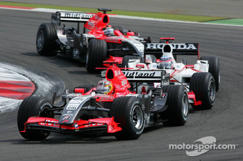 Tiago Monteiro leads Takuma Sato and Christijan Albers