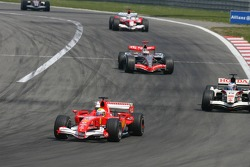 Felipe Massa leads Jenson Button