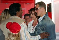 Balbir Singh, Barbara Stahl and Michael Schumacher