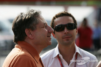 Jean Todt with his son Nicolas Todt