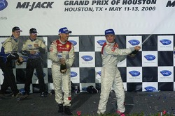 P1 podium: champagne for Rinaldo Capello and Allan McNish