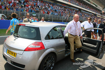 King of Spain Juan Carlos I and Fernando Alonso