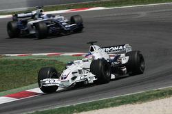 Jacques Villeneuve leads Nico Rosberg