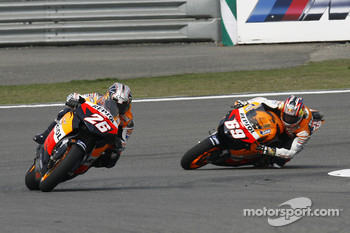 Dani Pedrosa and Nicky Hayden