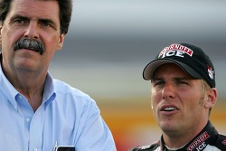 NASCAR President Mike Helton and Jamie McMurray
