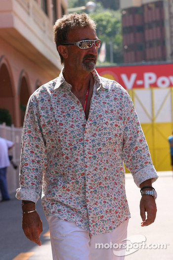 Eddie Jordan in the Formula 1 paddock