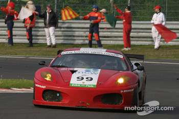 Wind-down lap - #99 Virgo Motorsport Ferrari F430 GT: Dan Eagling, Tim Sugden, Ian Khan