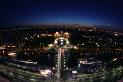 Paris by night: overlooking the Trocadero