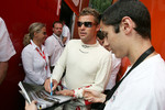 Tom Kristensen signs autographs