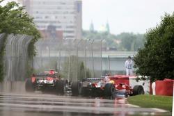 Ralf Schumacher and Tiago Monteiro