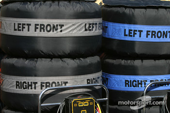 Tires in their warmers