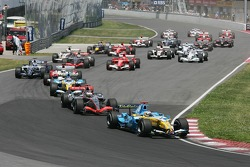 Start: Fernando Alonso leads the field