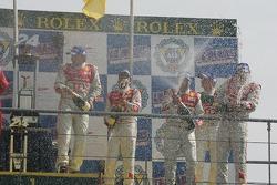 LMP1 podium: champagne