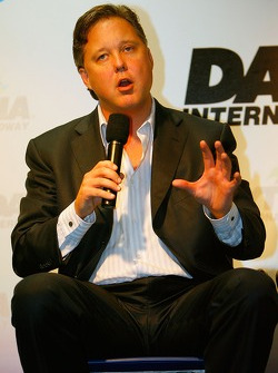 Brian France, NASCAR Chairman and CEO, speaks to the media