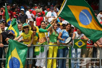Brazilian Fans in the grandstand