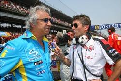 Flavio Briatore with Nick Fry
