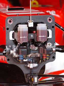 Brake and steering system on the Ferrari F2006