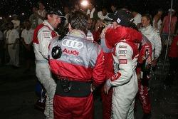 Post-podium celebrations for Audi
