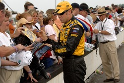Matt Kenseth and Jack Roush sign autographs