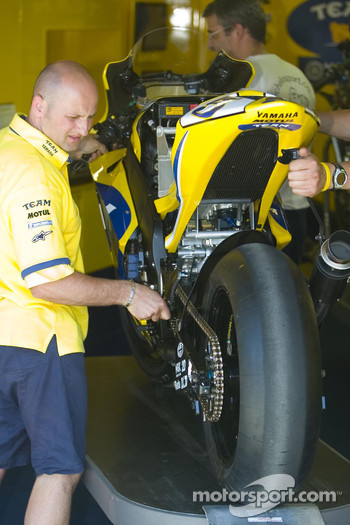 Yamaha team at work