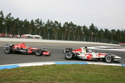 Jenson Button and Tiago Monteiro