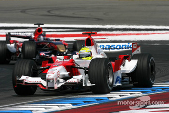 Ralf Schumacher leads Scott Speed