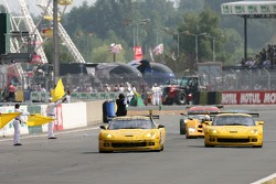 #64 Corvette Racing Corvette C6-R: Olivier Gavin, Olivier Beretta, Jan Magnussen takes the win in LMGT1