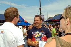 Running bulls rendez-vous in Budapest: Robert Doornbos and Hungaroring-President Laszlo Palik