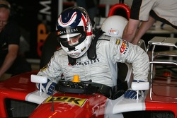 Nigel Mansell in the two-seater