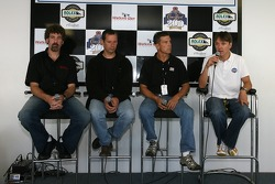 Press conference: Boris Said, Butch Leitzinger, Scott Pruett and Adrian Fernandez