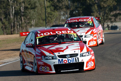 Mark Skaife leads team mate Todd Kelly