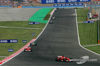 Felipe Massa leads Michael Schumacher and Fernando Alonso