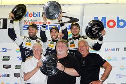 GTD class podium: winners Ian James, Mario Farnbacher, Alex Riberas