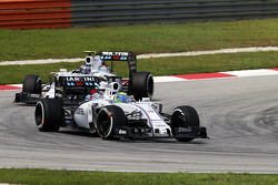 Felipe Massa, Williams FW37 leads team mate Valtteri Bottas, Williams FW37