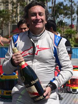 Alejandro Agag, CEO Formula E with champagne