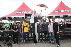James Jakes, Carlos Huertas, James Hinchcliffe, Graham Rahal, Luca Fillipi, Josef Newgarden, Marco Andretti, and Ryan Hunter-Reay