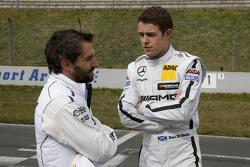 Timo Glock, BMW Team MTEK BMW M3 DTM and Paul Di Resta, HWA AG Mercedes-AMG C63 DTM