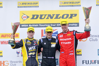 Podium: race winner Colin Turkington, second place Matt Neal, third place Adam Morgan