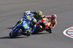 Aleix Espargaro, Team Suzuki MotoGP and Marc Marquez, Repsol Honda Team and Valentino Rossi, Yamaha Factory Racing