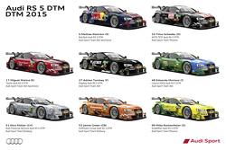 2015 Audi DTM liveries