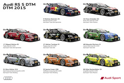 2015 Audi RS 5 DTM team liveries