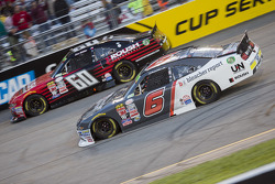 Chris Buescher, Roush Fenway Racing Ford and Darrell Wallace Jr., Roush Fenway Racing Ford